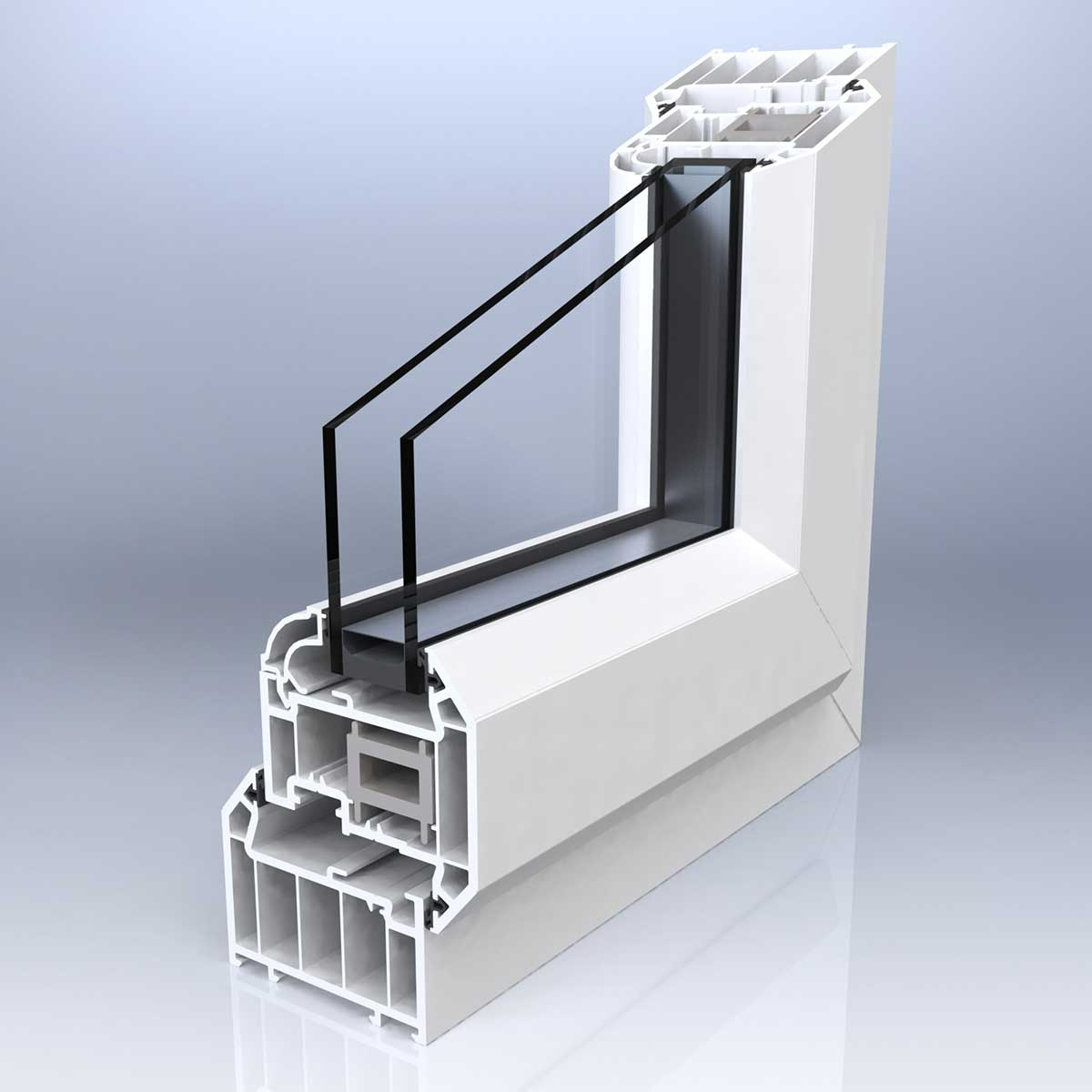 Chamfered Casement Window