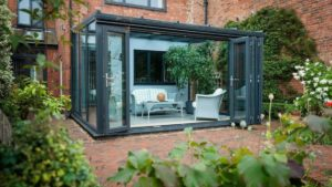 Modern Conservatory with bi-fold doors Essex