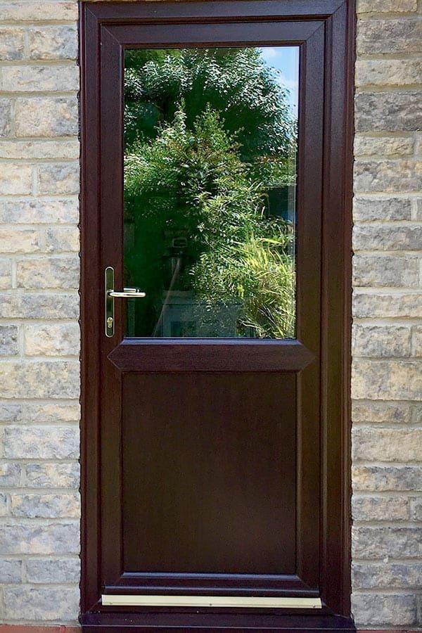 brown upvc door prices rochford